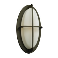 PLC Lighting Aqua Outdoor Wall Sconce in Bronze with Matte Opal Glass 8016-BZ