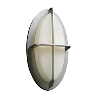 PLC Lighting Aqua 1 Light Outdoor Wall Light in Silver 8016SL126GU24