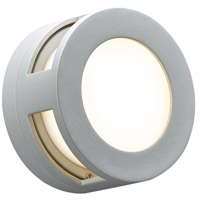 PLC Lighting 8018SLLED Daytona LED 7 inch Silver Outdoor Wall Light