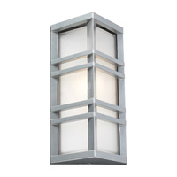 PLC Lighting Trevino Outdoor Wall Sconce in Silver with Frost Glass 8020-SL