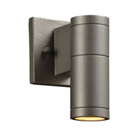 Troll (I) 1 Light 8 inch Bronze Outdoor Wall Light in Clear Glass Diffuser (down only), GU24
