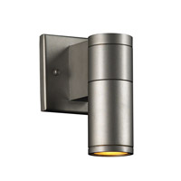PLC Lighting Troll I 1 Light Outdoor Wall Sconce in Aluminum 8022-AL