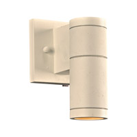 PLC Lighting 8022WH Troll I 1 Light 8 inch White Outdoor Wall Light in Clear Diffuser Incandescent