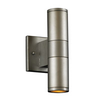 PLC Lighting Troll II 2 Light Outdoor Wall Sconce in Aluminum 8024-AL