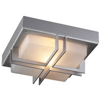 PLC Lighting 8026SLLED Piccolo LED 10 inch Silver Outdoor Wall Light