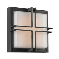 PLC Lighting Piccolo Outdoor Wall Sconce in Bronze with Frost Glass 8026/CFL-BZ