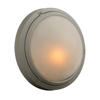PLC Lighting Ricci I 1 Light Outdoor Wall Sconce in Silver 8037-SL