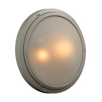 PLC Lighting Ricci II 2 Light Outdoor Wall Sconce in Silver 8039-SL