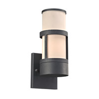 PLC Lighting 8047BZ Qubert 1 Light 13 inch Bronze Outdoor Wall Light in Incandescent