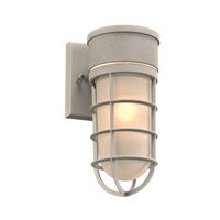 PLC Lighting Cage 1 Light Outdoor Wall Light in Silver 8050SL