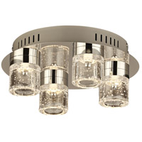 PLC Lighting 81114PC Yoki LED 11 inch Polished Chrome Flush Mount Ceiling Light photo thumbnail