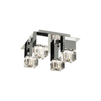 PLC Lighting Charme Flush Mount in Polished Chrome with Clear Glass 81234-PC