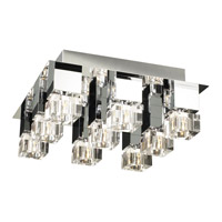 PLC Lighting Charme Flush Mount in Polished Chrome with Clear Glass 81238-PC