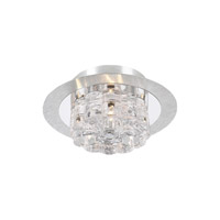 PLC Lighting Ice Age Flush Mount in Aluminum with Clear Glass 81242-AL