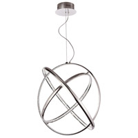 Jazz LED 28 inch Polished Chrome Pendant Ceiling Light, Round