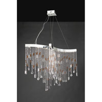 PLC Lighting Progetti Chandelier in Polished Chrome with Clear Glass 81325-PC