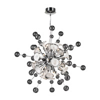 PLC Lighting Circus Chandelier in Polished Chrome with Clear & White Glass 81385-PC