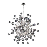 PLC Lighting Circus Chandelier in Polished Chrome with Clear & White Glass 81388-PC