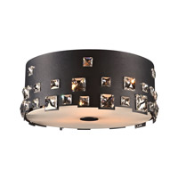 Twilight 3 Light 14 inch Black Flush Mount Ceiling Light