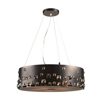 PLC Lighting Twilight 5 Light Pendant in Black 81395BK