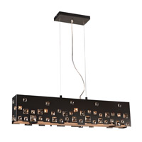 PLC Lighting Twilight 5 Light Pendant in Black 81397BK