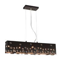 PLC Lighting 81397BK Twilight 5 Light 34 inch Black Pendant Ceiling Light