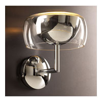 PLC Lighting Lumisphere Sconce in Polished Chrome with Clear Glass 81553-PC