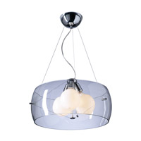 Lumisphere 3 Light 21 inch Polished Chrome Pendant Ceiling Light