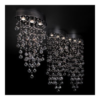 Drizzle 6 Light 33 inch Polished Chrome Flush Mount Ceiling Light