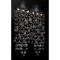 PLC Lighting 81624-PC Drizzle 6 Light 33 inch Polished Chrome Flush Mount Ceiling Light photo thumbnail