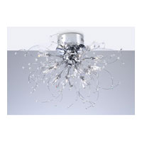 PLC Lighting Empire Flush Mount in Polished Chrome with Clear Glass 81632-PC