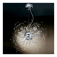 PLC Lighting Empire Chandelier in Polished Chrome with Clear Glass 81635-PC