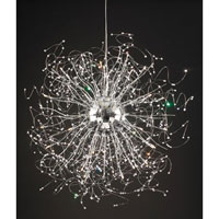 PLC Lighting Empire Chandelier in Polished Chrome with Clear Glass 81637-PC