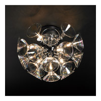 PLC Lighting Martini Flush Mount in Polished Chrome with Iridescent Glass 81661-PC