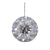 PLC Lighting Martini Chandelier in Polished Chrome with Iridescent Glass 81662-PC