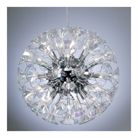PLC Lighting Martini Chandelier in Polished Chrome with Iridescent Glass 81666-PC