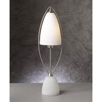PLC Lighting Amaretto Table Lamp in Satin Nickel with Matte Opal Glass 81710-SN photo thumbnail