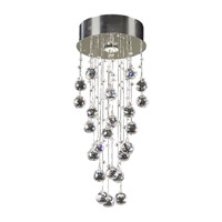PLC Lighting Beverly Flush Mount in Polished Chrome with Clear Glass 81720-PC