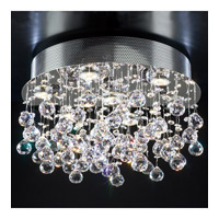 PLC Lighting Beverly Flush Mount in Polished Chrome with Clear Glass 81721-PC