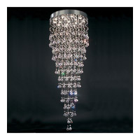 PLC Lighting Beverly Chandelier in Polished Chrome with Clear Glass 81727-PC