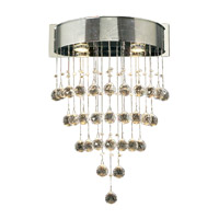 PLC Lighting Beverly Sconce in Polished Chrome with Clear Glass 81730-PC
