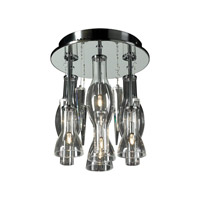 PLC Lighting Canaletto Flush Mount in Polished Chrome with Clear Glass 81732-PC
