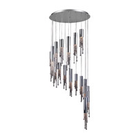 PLC Lighting Trento Chandelier in Polished Chrome with Clear Glass 81749-PC