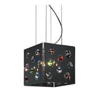 PLC Lighting Fanfare Chandelier in Polished Chrome with Silvered Glass Glass 81763-PC