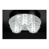 PLC Lighting Dralion Flush Mount in Aluminum with Clear Glass 81771-AL photo thumbnail