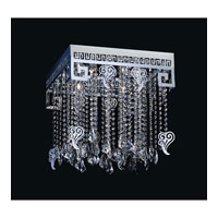 PLC Lighting Versai Flush Mount in Polished Chrome with Clear Glass 81774-PC