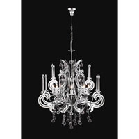 PLC Lighting Paris Chandelier in Polished Chrome with Clear Glass 81876-PC