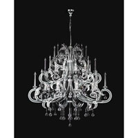 PLC Lighting Paris Chandelier in Polished Chrome with Clear Glass 81879-PC
