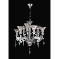 PLC Lighting Zsa Zsa Chandelier in Polished Chrome with Clear W. Clear Crystal Glass 81985-PC
