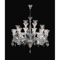 PLC Lighting Zsa Zsa Chandelier in Polished Chrome with Clear W. Clear Crystal Glass 81989-PC